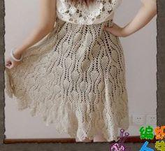 Pineapple crochet skirt