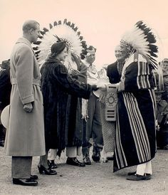 The Royal Winter Stampede was specially organized for Princess Elizabeth and Philip, the Duke of Edinburgh, on October 18. 1951
