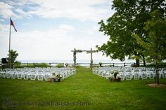 Shayna & Scott are Married – Bayfield, Ontario & Hessenland Country Inn Rustic Floral Arch Bayfield Ontario, Lakeside Wedding, Floral Arch, Wedding Ceremony, Dolores Park, Country, Wedding Ideas, Travel, Events
