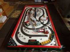 Floor Level Christmas Train Layout for Sale. Toy Trains, Model Trains, Christmas Train, Christmas Themes, Lionel Trains Layout, Model Train Layouts, Models, Control Panel, Scale Model
