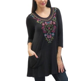 Loving this Black Lucia Scoop Neck Tunic on #zulily! #zulilyfinds