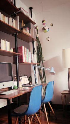 Cool bureau idee met schragen wonen pinterest for Elvarli ikea hack
