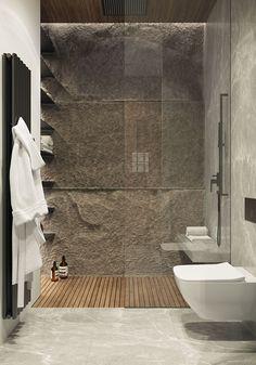 Family estate in Moscow on Behance - Home Desin - Bathroom Decor Rustic Bathroom Designs, Rustic Bathroom Vanities, Rustic Bathrooms, Bathroom Spa, Bathroom Interior Design, Modern Bathroom, Small Bathroom, Bathroom Ideas, Budget Bathroom