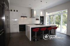 cool Idée relooking cuisine - Photos du plan de Maison unifamiliale W3457 - Cuisine