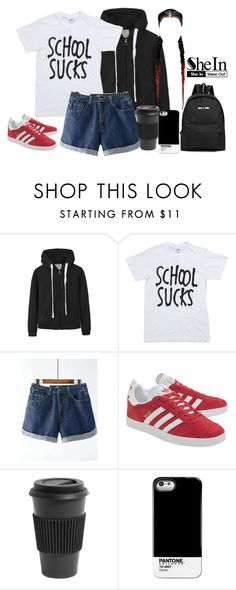 """SheIn shorts"" by youngsmile on Polyvore featuring adidas Originals, Homage and Case Scenario"