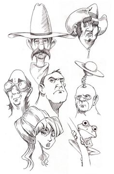 A collection of sketches from my sketchbooks.