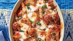 Meatball Pasta Bake - 9 Laid-Back Beef Casseroles - Southern Living - Recipe:Meatball Pasta Bake  Orange juice and fennel give this quick supper bright, fresh flavor. Chop fennel as you would an onion, or omit it, if desired.