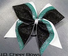 Brenna  Rhinestone/Glitter Cheer Bow  your choice of colors