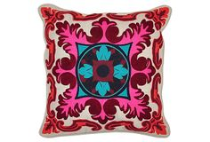 Messina 18x18 Linen Pillow, Multi on OneKingsLane.com