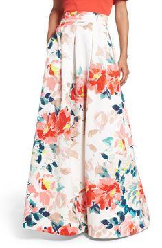 New Eliza J Faille Ball Skirt, Orange Paradise fashion dress online. [$188]>>newtstyle Shop fashion 2017 <<
