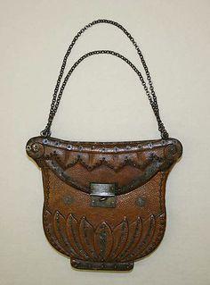 Metropolitan Museum: bolso francés de piel de 1790-1800 (Inventario: 1970.161.4)
