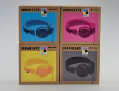 Concept packaging for a new series of headphones from Urbanears. Printed on brown corrugated board. Comes in four colors: cyan, magenta, yellow and black. Designed by Erik Johansson, a Student at Broby Grafiska. Credit: The Dieline