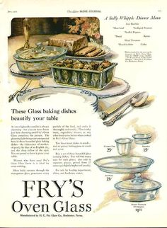Fry's Oven Glass ad