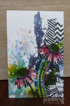Brusho card by Hermine Koster