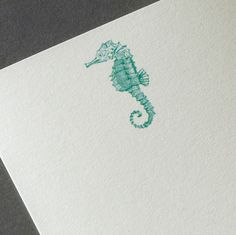 From our new Personalized Stationery line, this tiny seahorse is beckoning us to come play in the ocean. Preferably with a mojito and lovely stationery -- our friends & family would want to know how divine a time we're having, right?