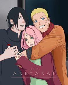 Team 7  Uchiha Sasuke and Sakura and Uzumaki Naruto  THIS IS SO CUTE OMG IM DEAD