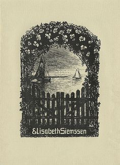 [Bookplate of Elisabeth Siemssen]