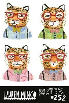 Surtex 2014 Mailer-Lauren Minco #Tiger #Surtex