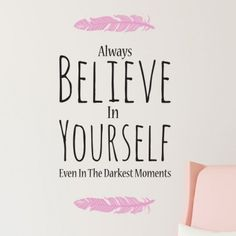 Stickers Muraux - Décoration murale originale et personnalisable ®   GALI-ART.com Decoration, Believe In You, The Darkest, In This Moment, Art, Wall Decals, Wall Art, Woman, Originals
