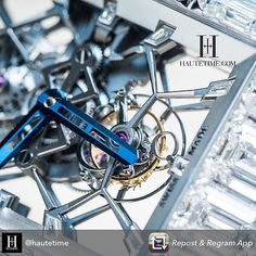 A detailed shot of our #Billionaire timepiece.  Repost from @hautetime. . . .  Billionaire Baguettes. The fully diamond baguette set Billionaire Tourbillon from @jacobandco  with 260 carats of diamonds framing the skeleton Tourbillon movement at its heart. #jacobandco #hautejacobandco #tourbillon #hautetime by jacobandco