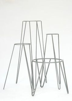 Our locally made - Mid Century inspired metal plant stands for indoor and outdoor use available in: Black & White as standard. Custom colurs available on re