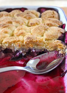 Cobbler pêches et myrtilles Cobbler, Petit Cake, Peach, Pie, Desserts, Food, Sour Cream, Irish Language, Greedy People