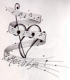 music tattoos #MusicTattooIdeas