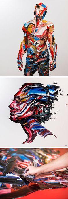 Enormous Palette Knife Portraits and Figures by Salman Khoshroo