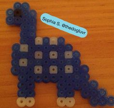 Perler Beads - Dinosaur by Sophia S.