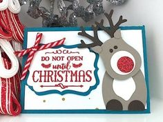 Rudolf the Reindeer Gift Card Holder - Video Tutorial | Simply Simple Stamping