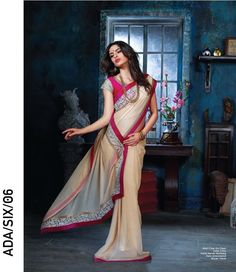 Bambered Chiku Colored Exclusive Fancy Saree - http://member.bulkmart.in/product/bambered-chiku-colored-exclusive-fancy-saree/