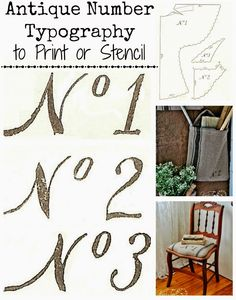 Antique Typography from 1800's Sewing Pattern - Use as printable or turn them into a stencil ~ via Knick of Time @ knickoftimeinteriors.blogspot.com