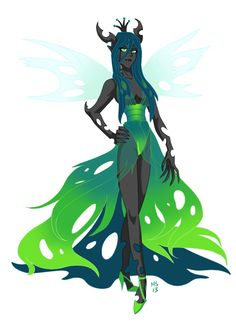Queen Chrysalis by ArtistMeli on DeviantArt My Little Pony 1, My Little Pony Twilight, My Little Pony Pictures, My Little Pony Friendship, Fnaf Characters, Fantasy Characters, Human Mlp, Queen Chrysalis, Little Poni