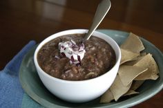 In terms of nutrition, black beans are rich in protein and calcium as well as fiber. We used water instead of more expensive chicken stock, because the spicy chipotle will heat up the taste as much as you want. Start with just a little; more chipotle can always be added. So, ask your friends over for a game night and know that you're serving up a winning menu! (serves 12).    Part of the Swedish Healthy Recipes collection (heart healthy, recipe, dinner).