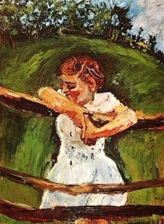 Young Girl at the Fence by Chaim Soutine