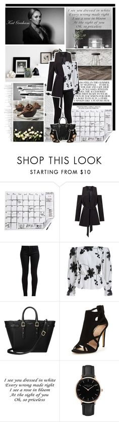 """Kat Graham"" by xbonjourbelleo ❤ liked on Polyvore featuring Kate Spade, Prada, Miss Selfridge, 7 For All Mankind, Aspinal of London, Topshop, Lana, blackandwhite, katgraham and goodvibes"
