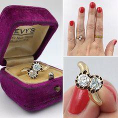 Antique Russian moi et toi diamond ring circa 1890 14k