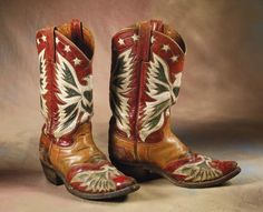For the true collector: Roy Rogers' Eagle Boots Rodeo Boots, Custom Cowboy Boots, Cowgirl Boots, Western Boots, Western Wear, Cowboy Gear, Cowboy And Cowgirl, Cowgirl Style, Roy Rogers