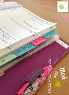 L'organizer filofax…a modo mio Filofax, Home Binder, Websters Pages, Kikki K, Notebooks, Journaling, Bullet Journal, Printables, Scrapbook
