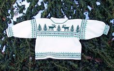 Ooo - practice making a Norwegian sweater with this free pattern for a baby.