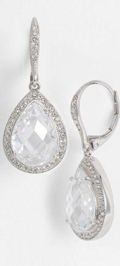 Nadri Pear Drop Earrings