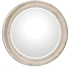 Heavily Antiqued Ivory Finish Mirror with Burnished Undertones  Click here to purchase: http://www.houzz.com/photos/22138926/lid=10858079/Heavily-Antiqued-Ivory-Finish-Mirror-with-Burnished-Undertones-rustic-mirrors