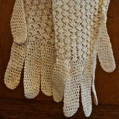 Crocheted Lace Gloves