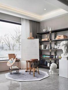 Art Studio Storage, Art Studio Room, Art Studio Design, Art Studio Organization, Art Studio At Home, Painting Studio, Home Art, Applis Photo, Room Decor