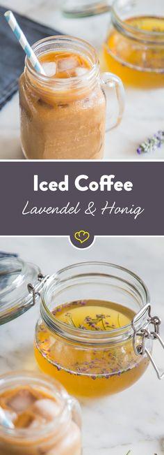 Nein, nein – kein kalter Kaffee. Sondern ein Kaffeekonzentrat. Cold Brew Coffee ist eine ganz bestimmte Methode, um Kaffee auf Vorrat zu machen. Und ihn in solchen Momenten zu genießen, wenn du dir etwas Gutes tun willst. In Kombination mit unserem Lavendel-Honig-Sirup eine herrlich duftende Komposition.