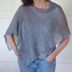 "Ravelry: NapaGal's Summer Gauze, free pattern, just over 400 m fingering, can use other yarns and gauges. 14 or 15"" x 56"" rectangle."