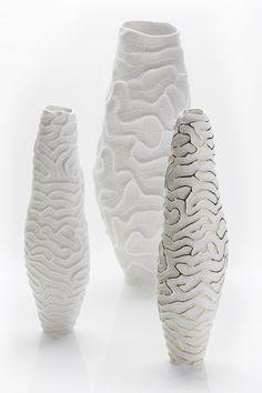 Porcelain vase FOSSILIA | Vase by Fos Ceramiche