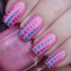 Spa Ritual Polka Dot Nails at Lucy's Stash (nail polish manicure)