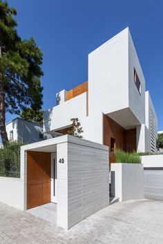 Best Modern House Design, Modern Exterior House Designs, Modern Architecture House, Modern House Plans, Exterior Design, Double Storey House Plans, House Design Pictures, Home Building Design, Architect Design