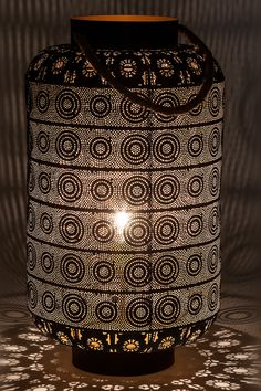 Arabian Nights, antique dark brown, steel, sisal, lamp by Kare. Item No. Rope Lamp, Sisal Rope, Oriental Fashion, Types Of Lighting, Arabian Nights, Moroccan Style, Light And Shadow, Floor Lamp, Dark Brown